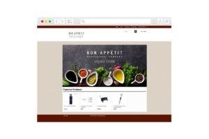 Screenshot of homepage for Bon Appetit
