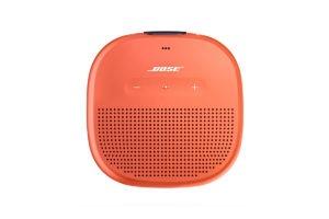 Product Shot of Orange Circular Bose Speaker