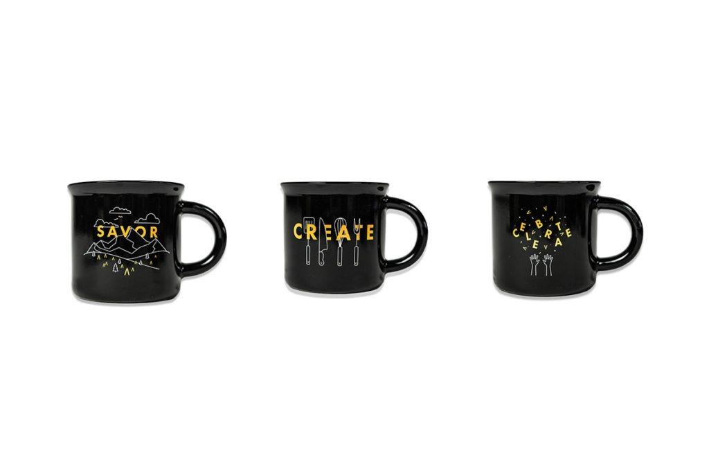 Product Shot of Three Black Cava Mugs