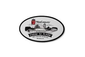 Custom Sticker Branded for MurLarkey Distilled Spirits
