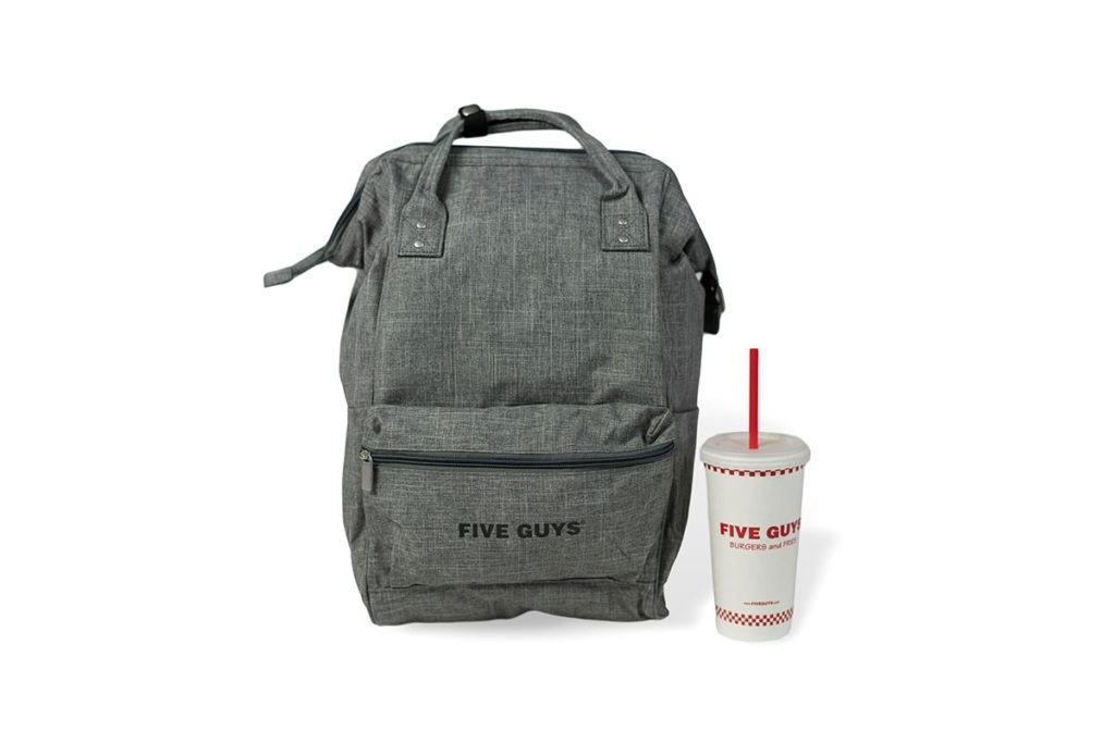 Grey 5 Guys Vintage Backpack and Beverage Cup
