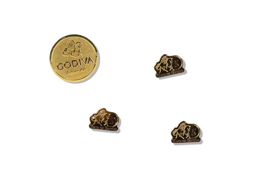 Product Shot of Godiva Pins