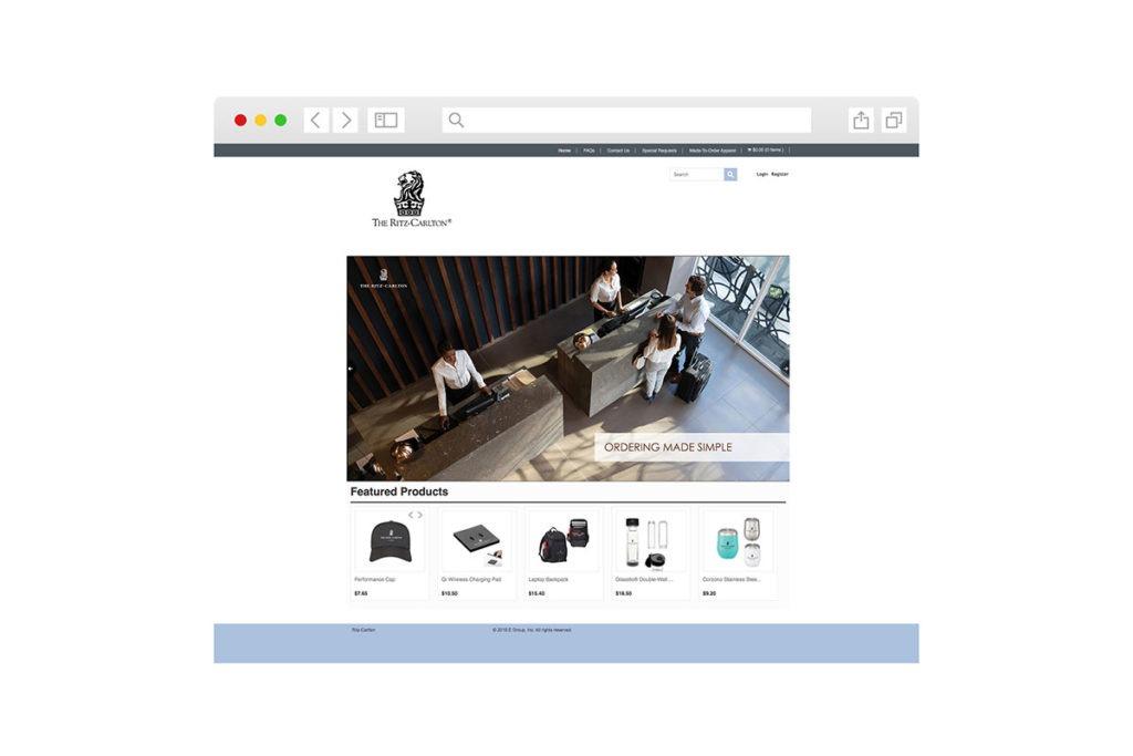 Screenshot of homepage for Ritz Carlton
